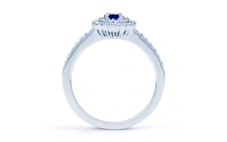 Double Halo Blue Sapphire Ring product image 3