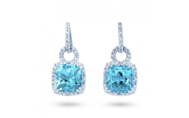 Modern Blue Topaz Earrings product image 1