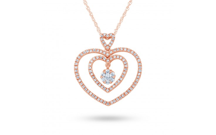 Twin Heart Diamond Pendant product image 2