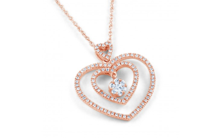 Twin Heart Diamond Pendant product image 1