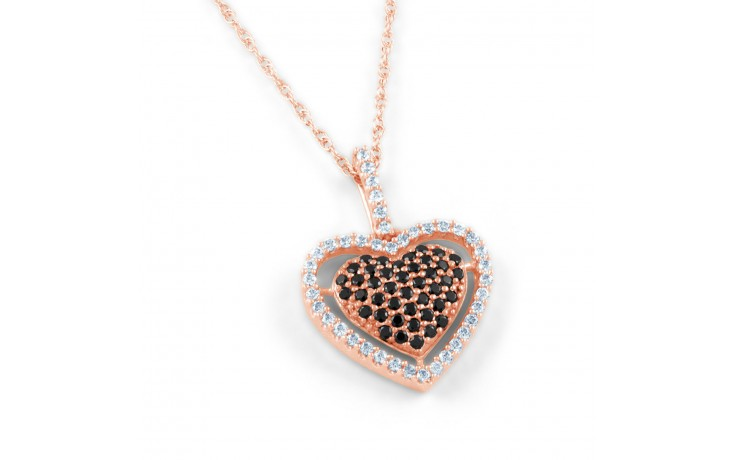 Black Diamond Rose Gold Pendant  product image 1