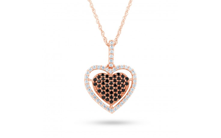Black Diamond Rose Gold Pendant  product image 2