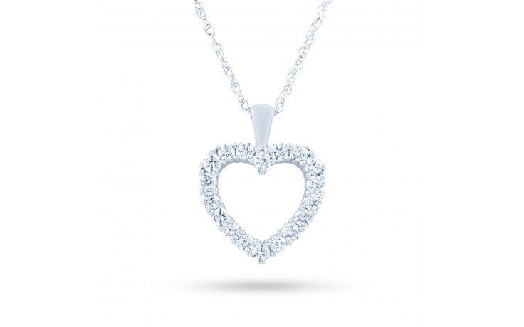 Diamond Cluster Heart Pendant product image 2
