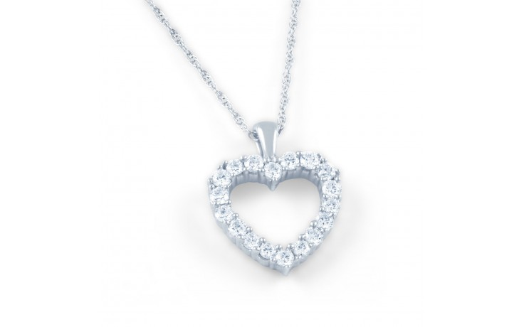 Diamond Cluster Heart Pendant product image 1