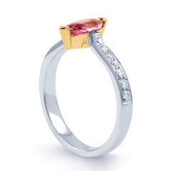 Marquise Pink Sapphire Ring image 1