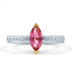 Marquise Pink Sapphire Ring image 0
