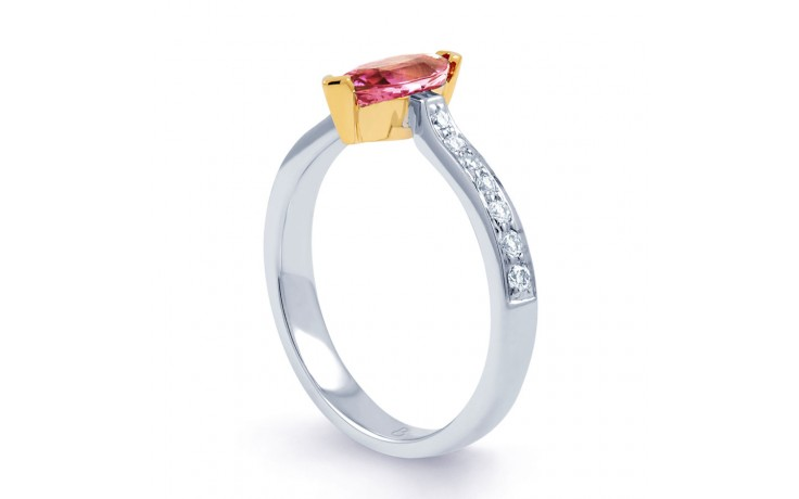 Marquise Pink Sapphire Ring product image 2
