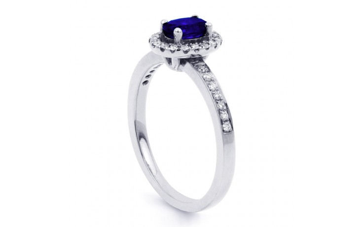 Vintage Blue Sapphire Halo Ring product image 2