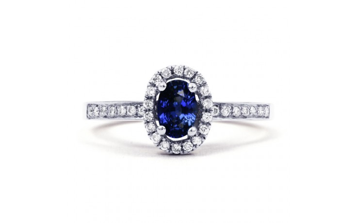 Vintage Blue Sapphire Halo Ring product image 1