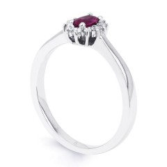 Blossom 9ct White Gold Pink Sapphire Floral Ring image 1
