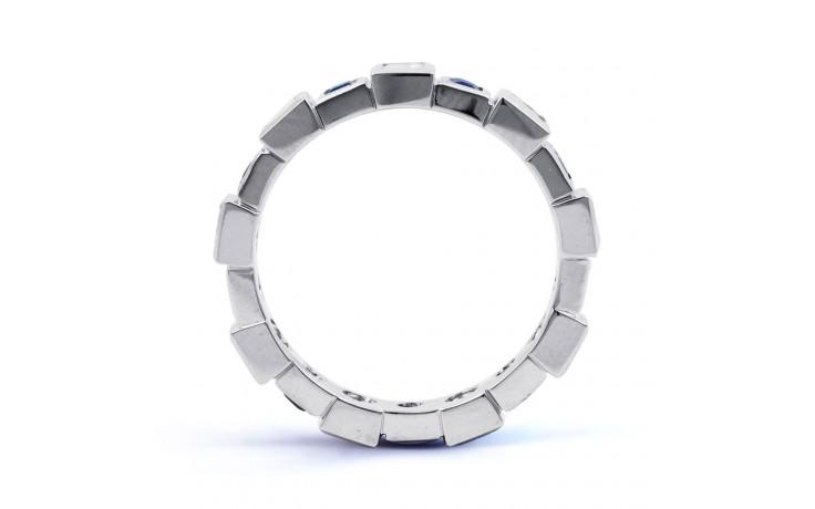 18ct White Gold Blue Sapphire & Diamond Designer Full Eternity Ring 0.75ct 5mm product image 3