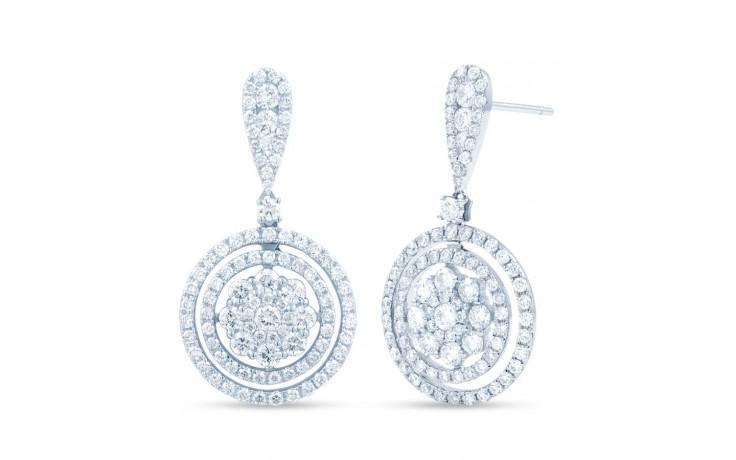 Diamond Double Halo Cluster Drop Earrings product image 1