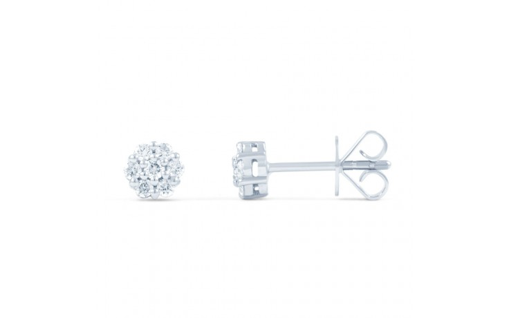 Floral Diamond Stud Earrings  product image 2