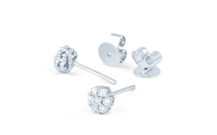 Floral Diamond Stud Earrings  product image 3