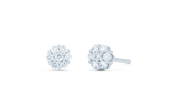 Floral Diamond Stud Earrings  product image 1