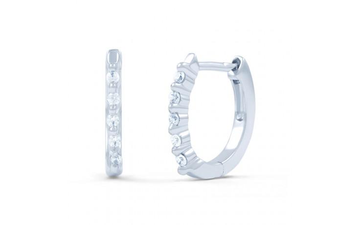 Classic Diamond Hoop Earrings product image 1