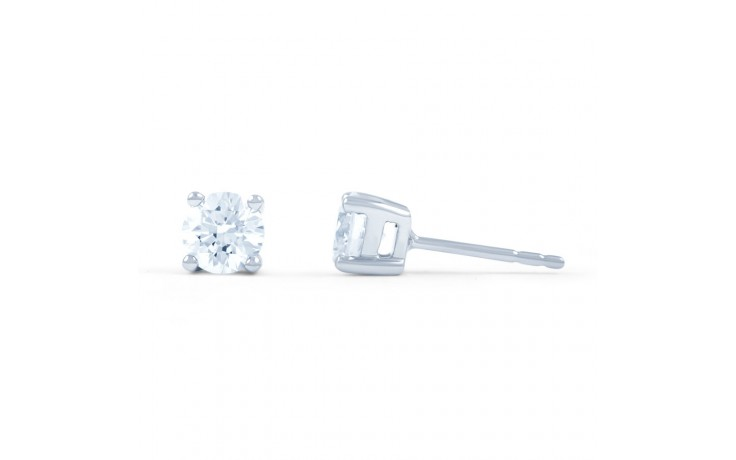 Classic Solitaire Diamond Stud Earrings product image 2