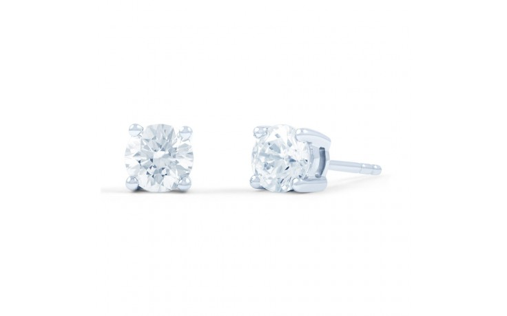 Classic Solitaire Diamond Stud Earrings product image 1
