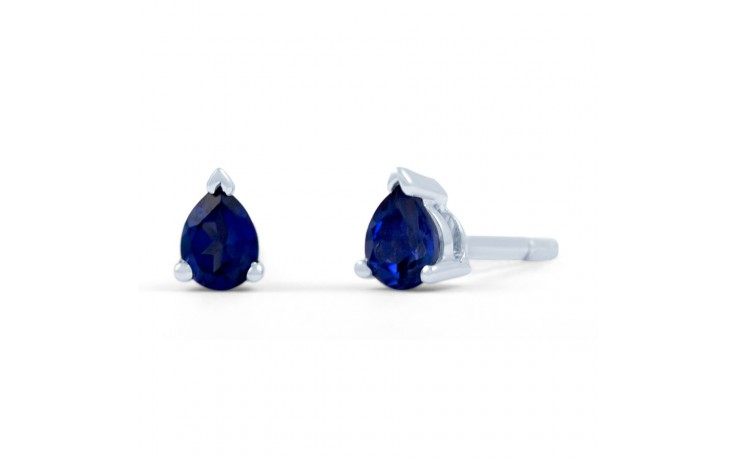 Classic Blue Sapphire Pear Stud Earrings product image 1