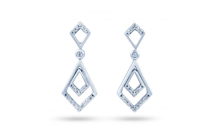 Platinum Diamond Drop Earrings product image 1