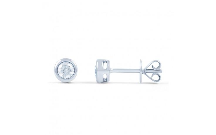 Modern Round Diamond Stud Earrings product image 2
