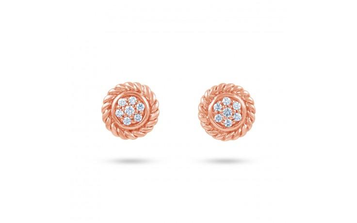 Vintage Rose Gold Diamond Earrings product image 1