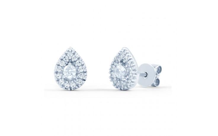 Diamond Pear Cluster Stud Earrings product image 1