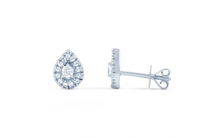 Diamond Pear Cluster Stud Earrings product image 2