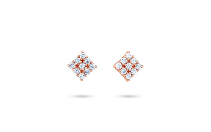 Diamond Kite Shape Stud Earrings product image 1