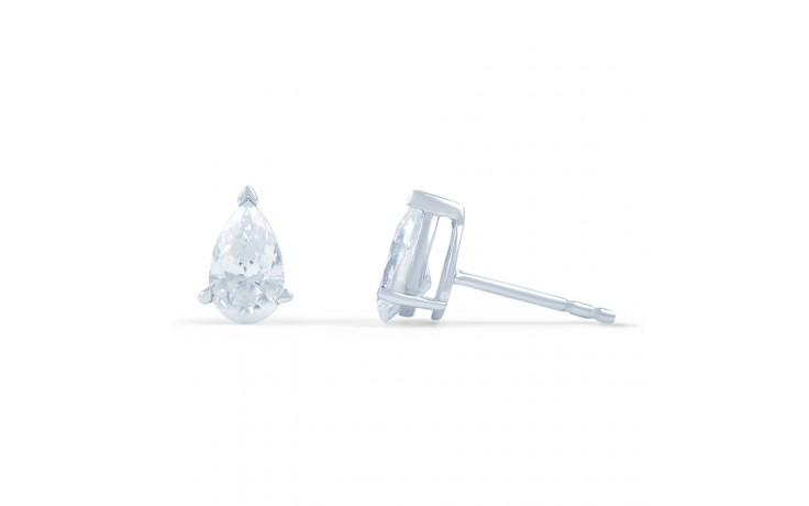 Teardrop Diamond Stud Earrings product image 2