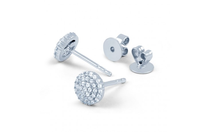 Diamond Round Cluster Stud Earrings product image 2