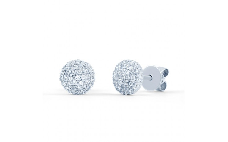 Diamond Round Cluster Stud Earrings product image 1