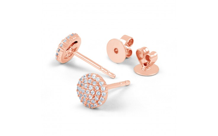 Rose Gold Diamond Stud Earrings product image 3