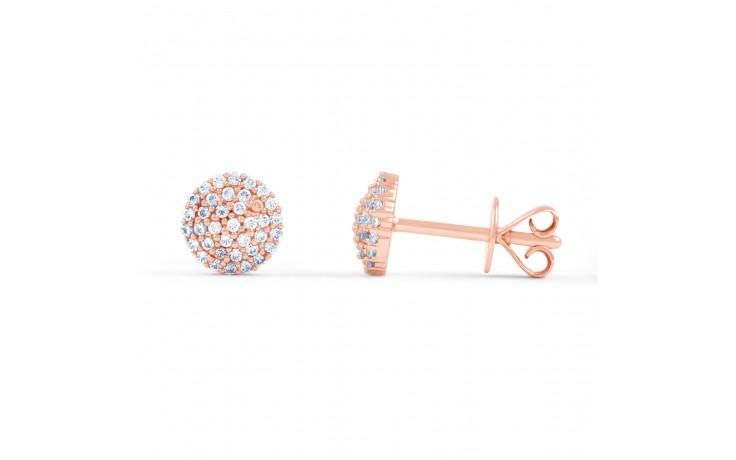 Rose Gold Diamond Stud Earrings product image 2