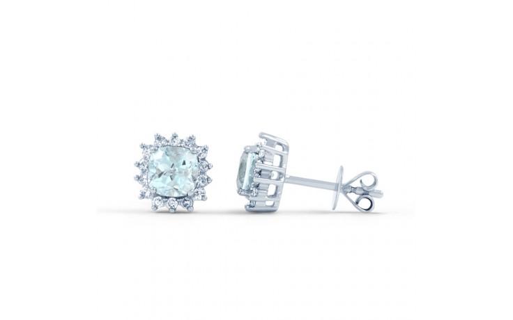 Starlight Blue Topaz & Diamond Stud Earrings product image 2