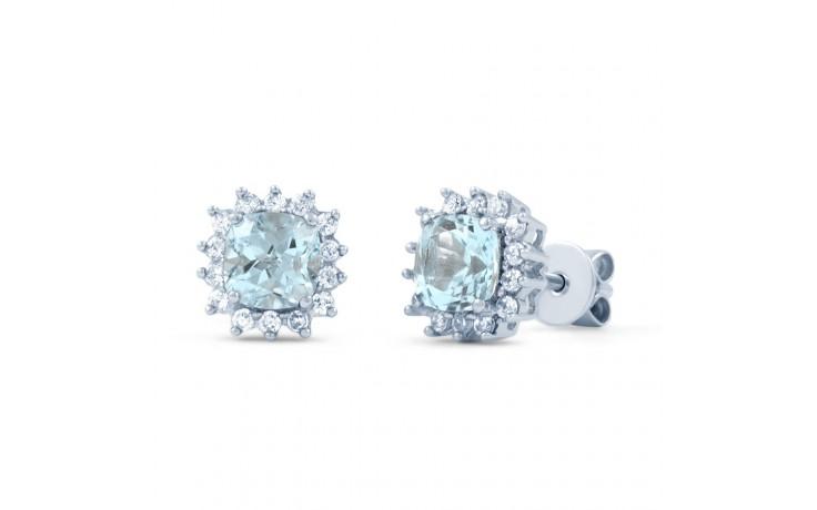Starlight Blue Topaz & Diamond Stud Earrings product image 1