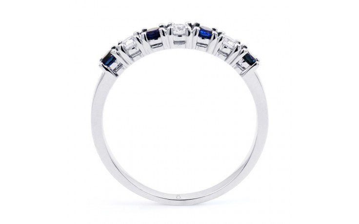 Amor Blue Sapphire & Diamond Eternity Ring product image 3