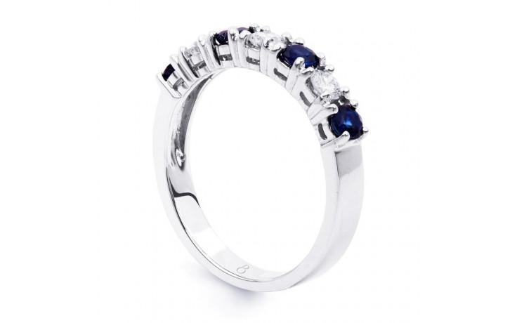 Amor Blue Sapphire & Diamond Eternity Ring product image 2