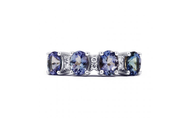 Xian 9ct White Gold Tanzanite and Diamond Eternity Ring product image 1