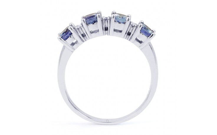 Xian 9ct White Gold Tanzanite and Diamond Eternity Ring product image 3