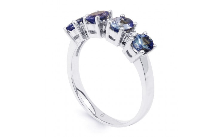 Xian 9ct White Gold Tanzanite and Diamond Eternity Ring product image 2
