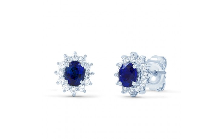 Starlight Blue Sapphire and Diamond Earrings product image 1