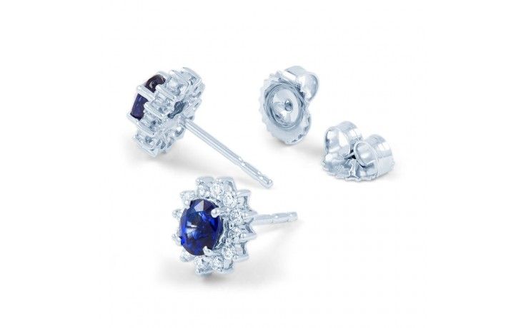 Starlight Blue Sapphire and Diamond Earrings product image 2