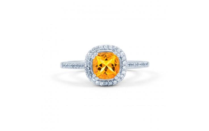 Citrine Cushion Engagement Ring product image 1