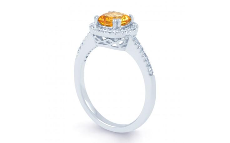 Citrine Cushion Engagement Ring product image 2