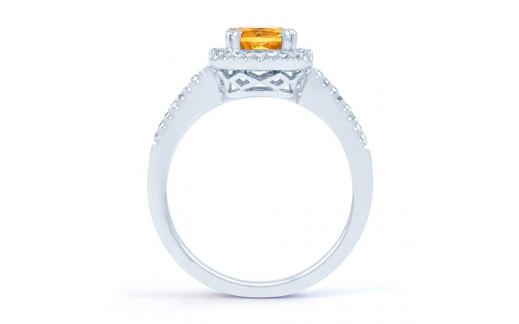 Citrine Cushion Engagement Ring product image 3