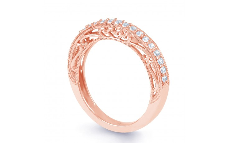Rose Gold Diamond Art Deco Ring product image 2