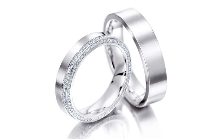 Cluster Wedding Ring Set product image 1