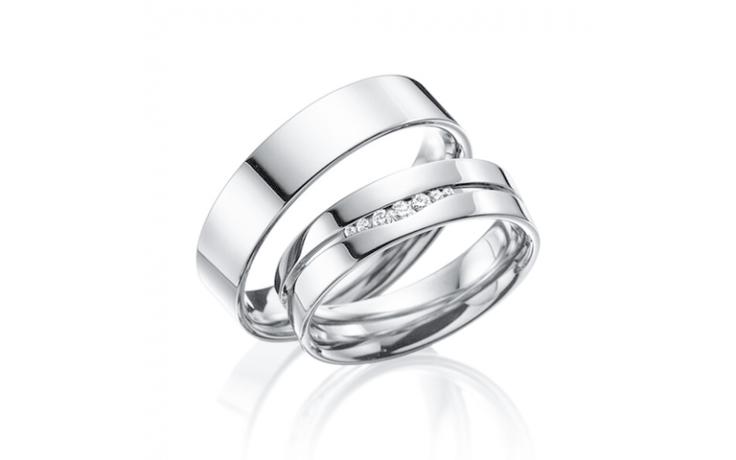 7 Stone Wedding Band Set product image 1
