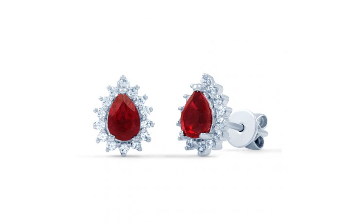 Starlight Pear Ruby Stud Earrings product image 1